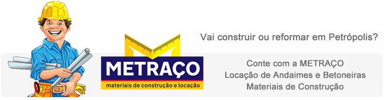 METRACO locação de andaimes e betoneiras em Petrópolis